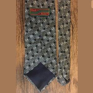 Villa Bugatti Men's Neck Tie SILK Silver Black